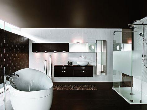Implantée au milieu de la pièce, la baignoire îlot attire tous les ...