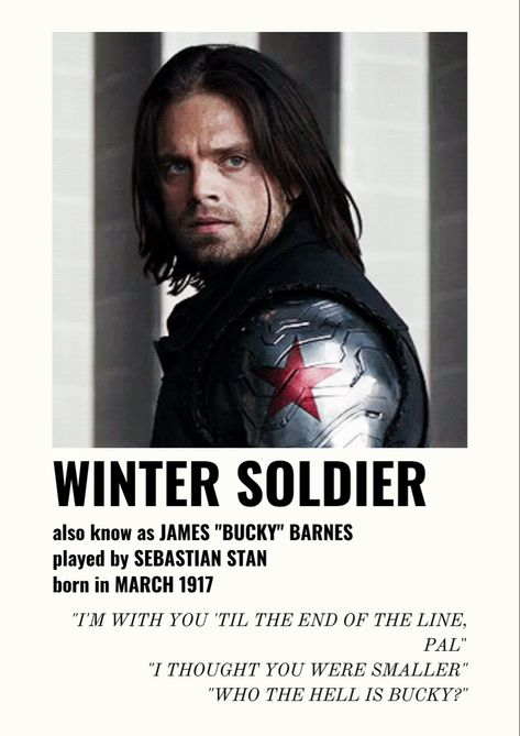 Poster Bucky w/ quotes