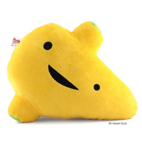 This soft-n-cuddly liver plush toy loves you! Cleaning blood, converting food to energy and vitamin storage are just three of the 400 jobs your liver does daily. That's one busy organ.