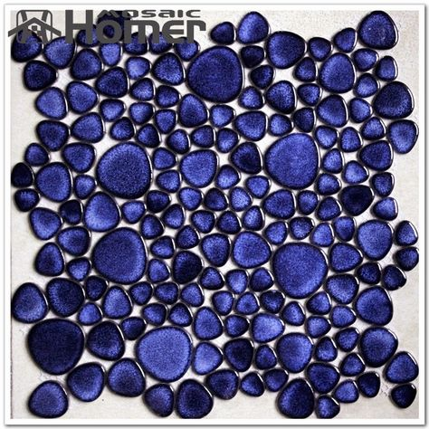 Aliexpress Com Buy Shipping Free Navy Blue Pebble Ceramic Mosaic Tiles Bathroom Floor Tiles Fro Tile Bathroom Mosaic Bathroom Tile Porcelain Tile Bathroom