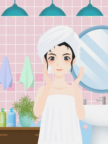 Skin Care Illustration Beauty Illustration Skincare Illustration Cosmetic Illustration Skin Care Wash Your Fa Beauty Illustration Beauty Skin Care Illustration