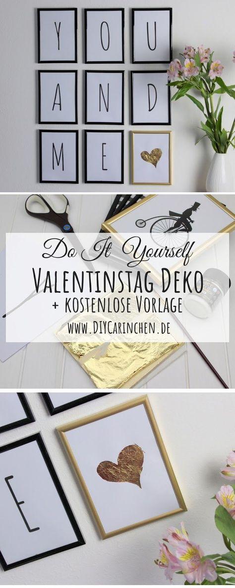DIY: Süße Valentinstag Wanddeko mit Blattgold ganz einfach selber machen - auch super als Geschenkidee + kostenlose Vorlage ,  #als #auch #Blattgold #DIY #DIYValentinstag #Einfach #ganz #Geschenkidee #Kostenlose #Machen #mit #selber #Super #süße #Valentinstag #Vorlage #Wanddeko
