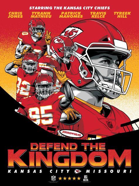 Kansas City Chiefs Defend The Kingdom Movie Poster Serigraph