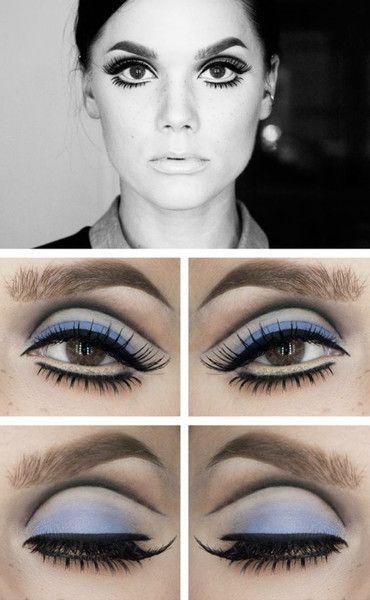 Twiggy Eyes With Images Retro Makeup Hippie Makeup 60s Makeup