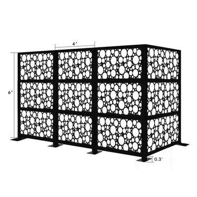 E Joy 6 5 Ft H X 12 5 Ft W Freestanding Modular Metal Privacy Screen Finish Black Outdoor Screens Outdoor Settings Saltwater Hot Tub