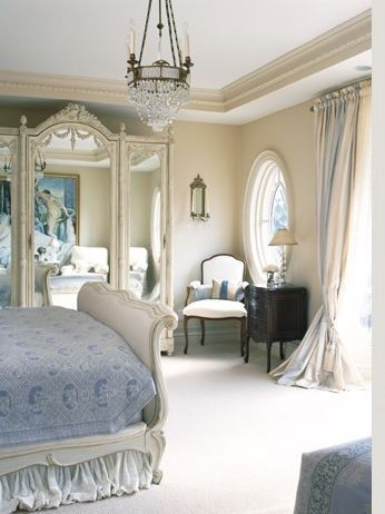 French Country Bedroom Has The Blues