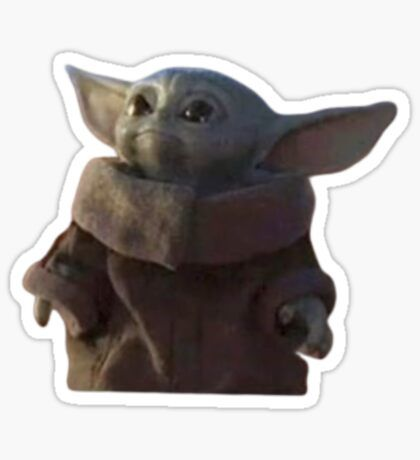 Baby Yoda Meme Aesthetic Stickers Sticker By Emeraldssun Redbubble Yoda Sticker Aesthetic Stickers Yoda Meme