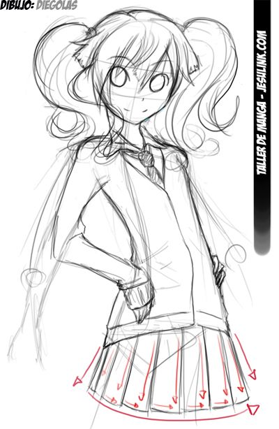 Taller De Manga Como Dibujar Una Chica Manga Como Dibujar Cuerpo Anime Chica Manga Cuerpo Anime