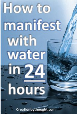 How to manifest with two glasses of water using the law of attraction.