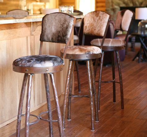 HOUSE IN BOX.COM 2X Barstools Adjustable Height Swivel Bar Stools Retro Vintage Industrial Style Rustic Designer Breakfast Counter Pub Kitchen Chairs with Curved Legs