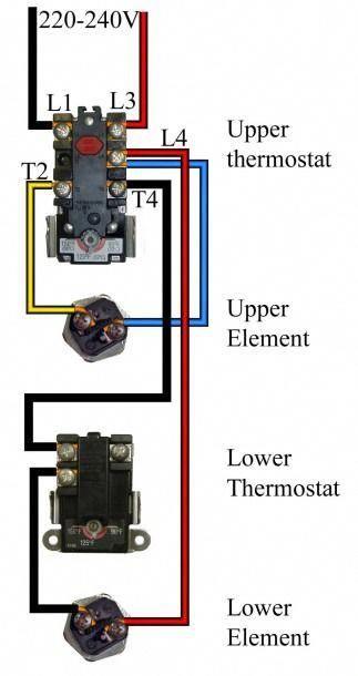 Water Heater Wiring Diagram Water Heater Thermostat Water Heater Repair Hot Water Heater Repair