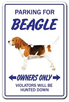 Amazon Com Beagle Novelty Sign Indoor Outdoor Funny Home