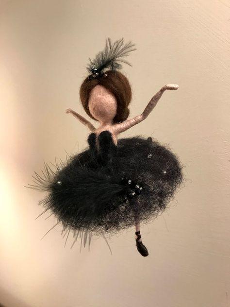 Needle felted fairy Waldorf inspired Wool Swan Lake Fairy