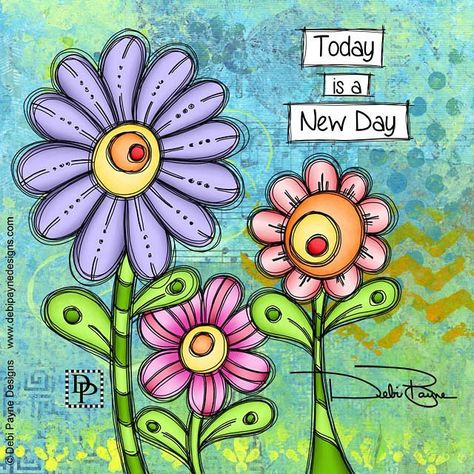 Today is a new day, so what new thing will you do today? . . . . . #mixedmedia #collagepainting #motivation #inspiration #debipaynedesigns