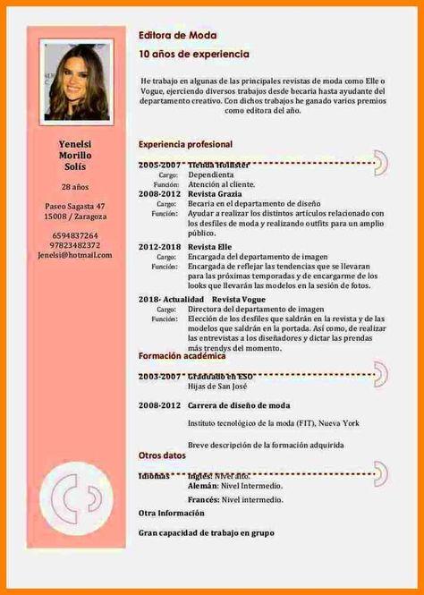 Curriculum Vitae Formato Work