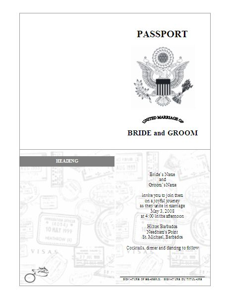 102 best Sunday school passports images on Pinterest Passport - invite templates for word
