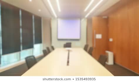 A Blur Background Of The Meeting Room In Warm Tone Photo Royalty Free Images Stock Interior Photo Blurred Background Warm Tones Office meeting background images hd