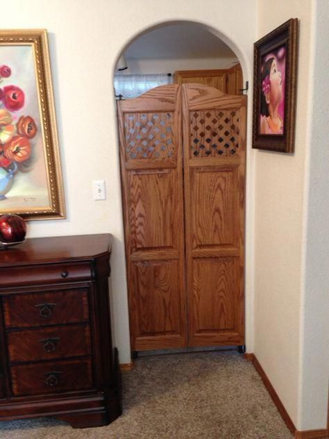 Interior Custom Full Length Cafe Doors Saloon Doors Swinging Doors Lattice Style Top 24 36 Door Openings E Doors Interior Cafe Door Modern Bedroom Design