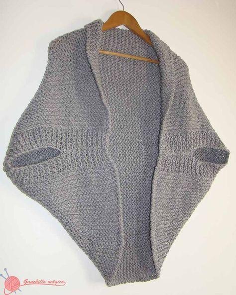 Pin By Helga On Grune Jacke Knitted Poncho Shrug Knitting Pattern Crochet Shrug Pattern