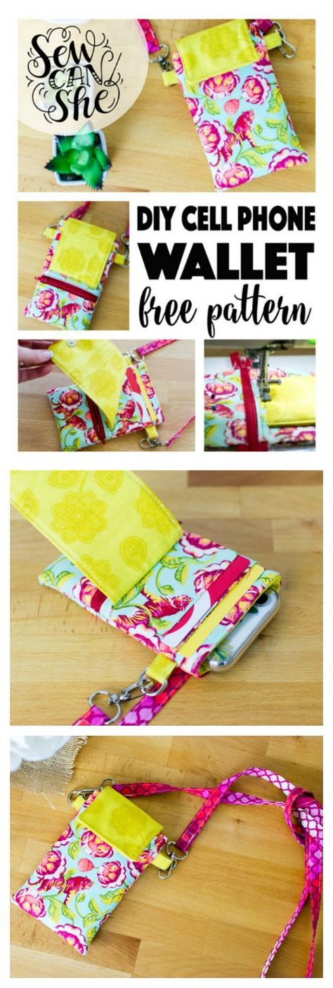 Cell Phone Wallet - free sewing pattern and photo tutorial
