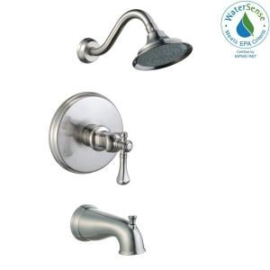Pegasus Verdanza Watersense Single Handle 1 Spray Tub And Shower Faucet In Brushed Nickel Valve Included 873w 5004 With Images Tub And Shower Faucets Shower Faucet Shower Tub