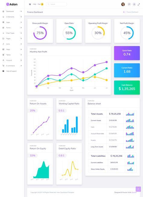 Adon - Creative Admin Multipurpose Responsive Dashboard Template