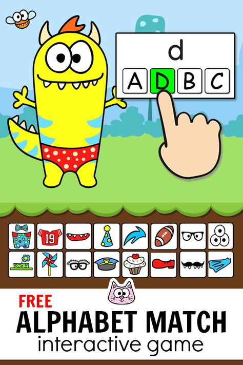 Practice counting to 10 with ten frames using this engaging FREE Monster Dress-Up game! This fun game for kids works with any device including iPads, . Smart Board Activities, Math Board Games, Alphabet Activities, Cat Games, Smart Board Lessons, Kindergarten Math Games, Literacy Games, Kindergarten Websites, Fun Classroom Games
