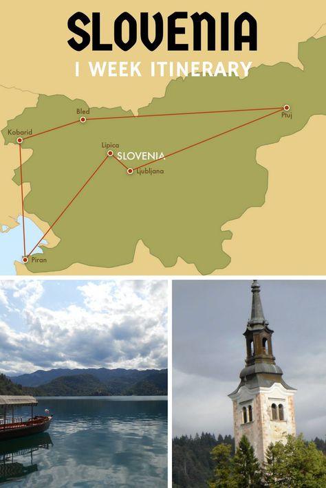 Slovenia is a great place to visit and can be seen thoroughly in one week. This Slovenia itinerary hits the highlights and can be customized easily.  See Ljubljana, Lake Bled, Lake Bohinj, Piran, Kobarid, Bovec, the Julian Alps, Triglav national Park, Lipica, Predjama, Postojna, Logarska Dolina, Maribor, Ptuj, and Celje.