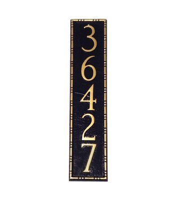 3b55dc10160 Whitehall 9.25-in Aged Bronze House Number Address Plaque