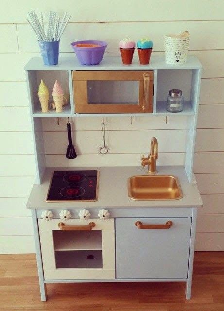 Mommo Design Ikea Hacks Play Kitchen Makeover Toys Goods For Green Kids Pinterest Hack Plays And Kitchens