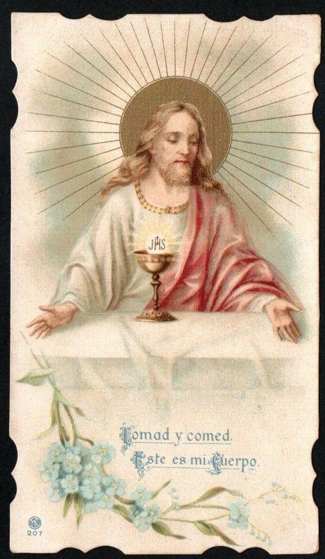 Holy card antique de Jesus santino image pieuse andachtsbild estampa