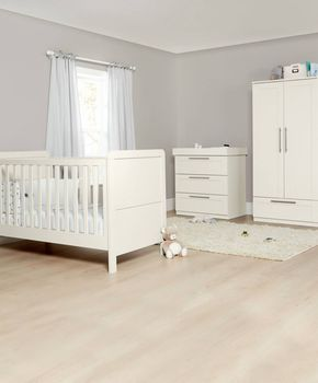 Heaton 3 Piece Nursery Furniture Range With Adjule Cot