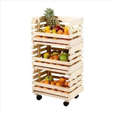 Organizador Frutas Verdura Canasto Carro Verdulero Fruta Frutas Y Verduras Verduras Cocinas