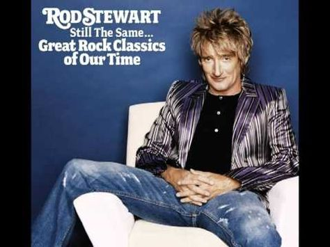 The Definitive Rod Stewart Mens Classic Comfortable Sweaters Black