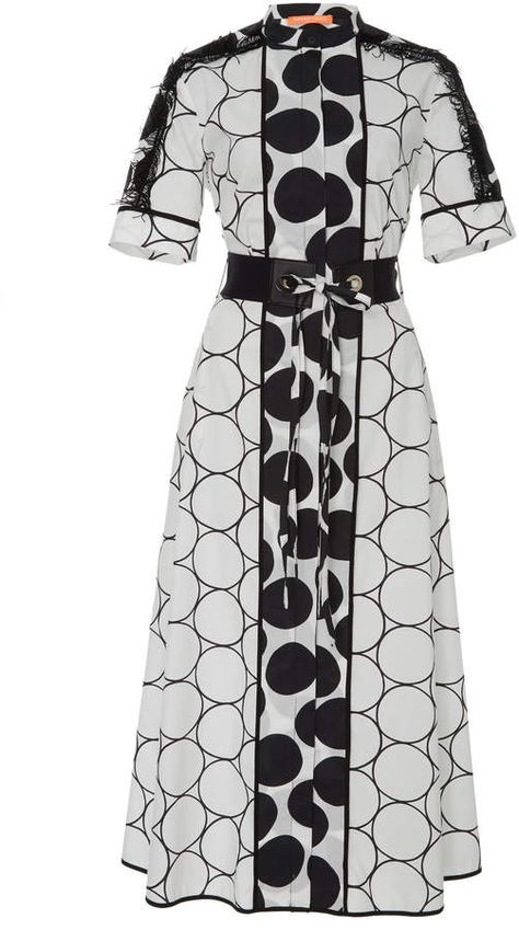 This Smarteez Belted Cotton Dress features dot print througout and sleeves.