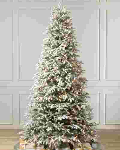 Frosted Fraser Fir Narrow Artificial Christmas Tree Balsam Hill Realistic Artificial Christmas Trees Christmas Trees Uk Balsam Christmas Tree