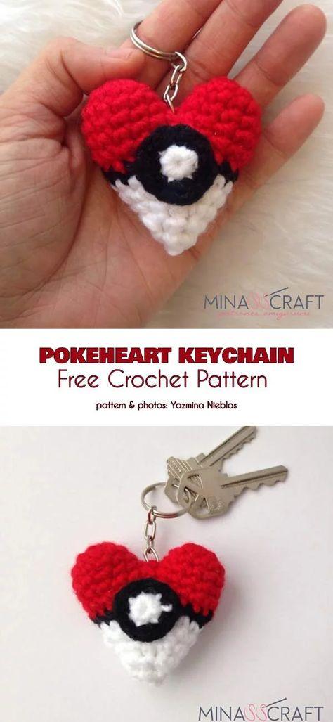 Amigurumi Pokemon - Mini Eeveelution Amigurumi Plush Keychain Set ... | 1027x474