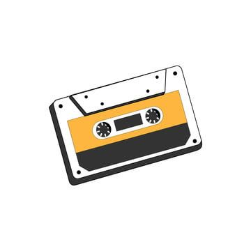 Audio Cassette Tape Isolated Vector Old Music Retro Player Retro Music Audio Cassette 80s Blank Mix Music Icons Audio Icons Old Icons Png And Vector With Tra Retro Music Cassette Tapes