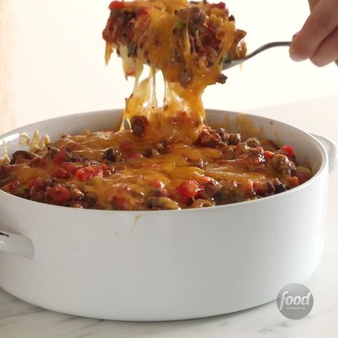 Beef And Cheddar Casserole Recipe Food Food Network Recipes Cooking