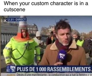 When Your Custom Character Is In A Cutscene Ifunny Funny Memes Hilarious Youtube Memes