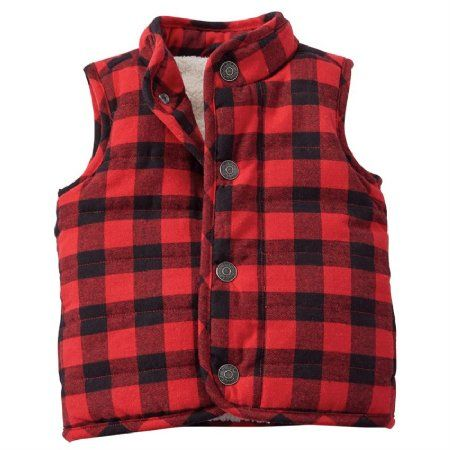 Mud Pie Baby-Boys Quilted Vest Sherpa Lined Fleece Vest