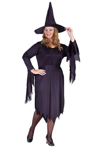 Plus Size Wicked Witch Women/'s Halloween Fancy Dress Costume