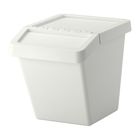 Sortera White Waste Sorting Bin With Lid 37 L Ikea Recycling Bins Ikea Ikea Shopping