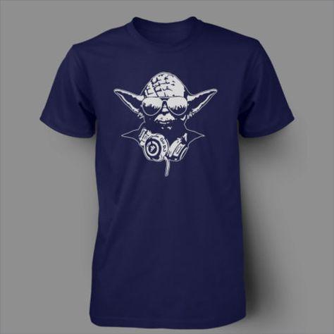 Star Wars Yoda DJ Jedi Master Hip Hop Music Headphones T-Shirt S-XXL