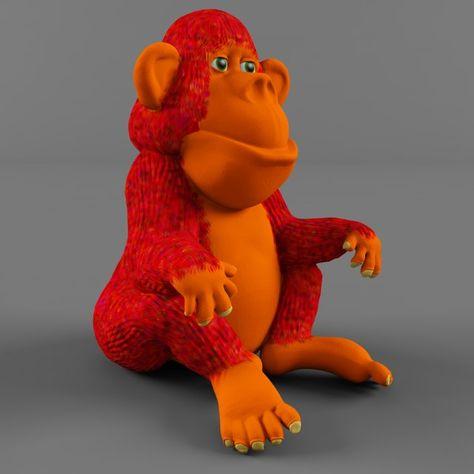 Monkey 3D Model  max  c4d  obj  3ds  fbx  lwo  stl @3DExport