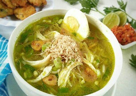 Resep Soto Ayam Lamongan Dg Bubuk Koya Pr Soto Oleh Dapurvy Resep Resep Masakan Resep Masakan