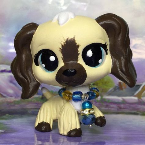 Littlest Pet Shop Cute, cocker spaniel DOG, hand painted, Ooak Custom, Nice!