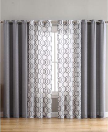 Auckland 4pk 38x96 Window Panel Grey Living Room Decor Curtains Curtains Living Room Window Treatments Living Room