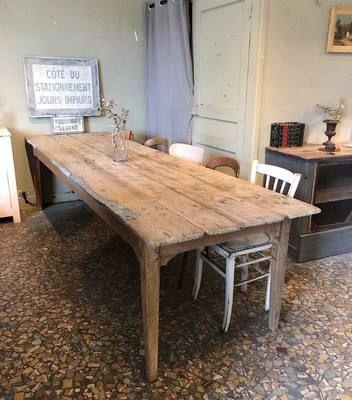 Table De Ferme En Bois Debut Xxeme Par Le Marchand D Oublis Table De Salle A Manger Bois Salle A Manger Bois Table Rectangulaire Bois