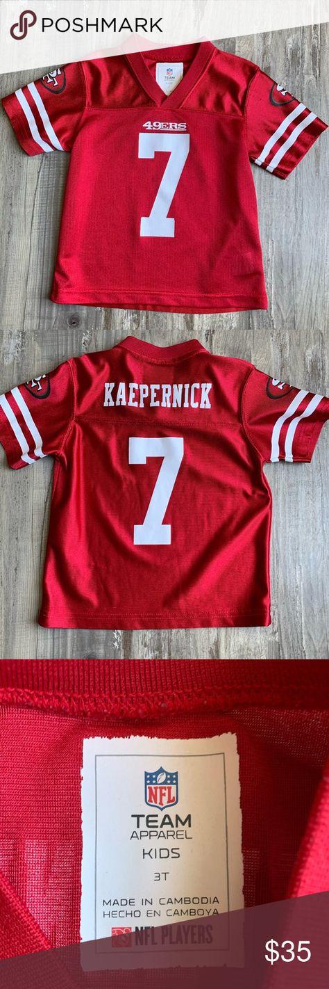 Toddler San Francisco 49ers Kaepernick Jersey 3t Nfl Team Apparel 49ers Kaepernick Nfl Shirts